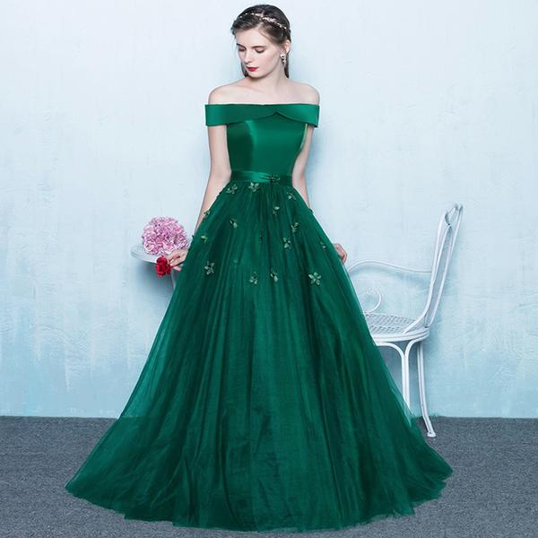 Green Prom Dress Long 2018,Prom Dresses,Evening Gown, Graduation ...