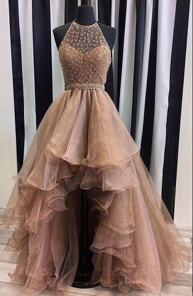 High Low Prom Dressbeading Prom Dresslong Prom Dress441