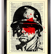Image of Platoon Soldier, Vintage Dictionary Print, 8 x 10