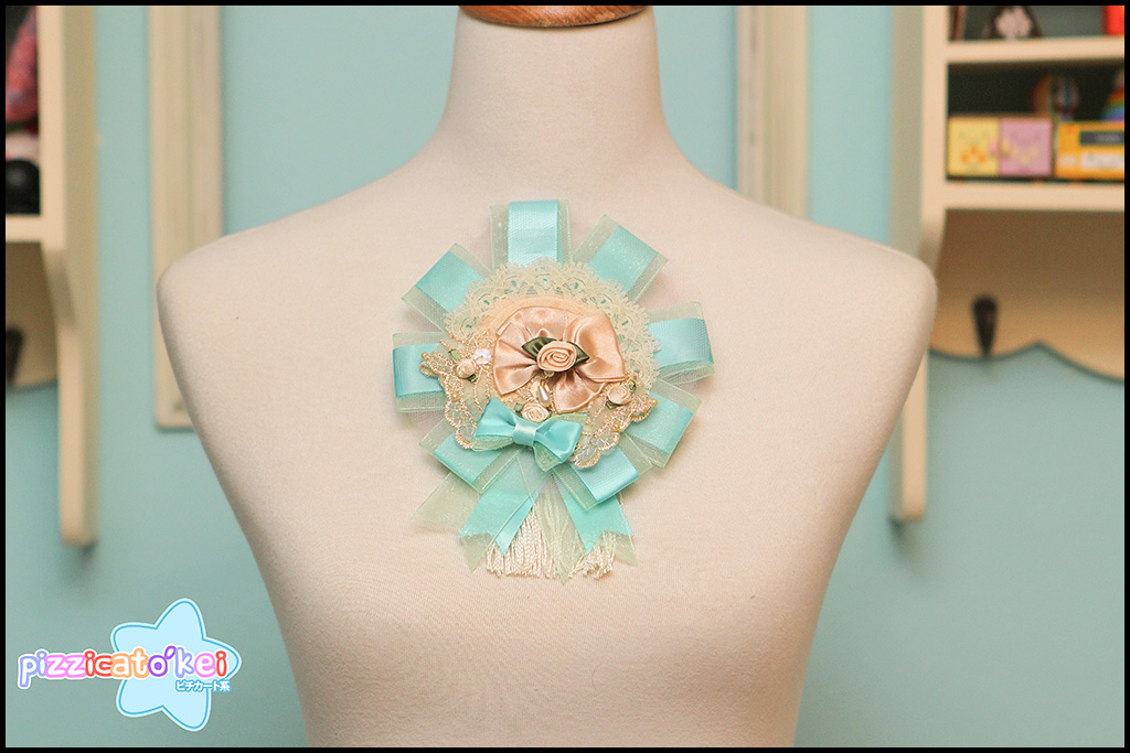 Grand Rosette (two-way) - Teal and Fringe from Pizzicato Kei