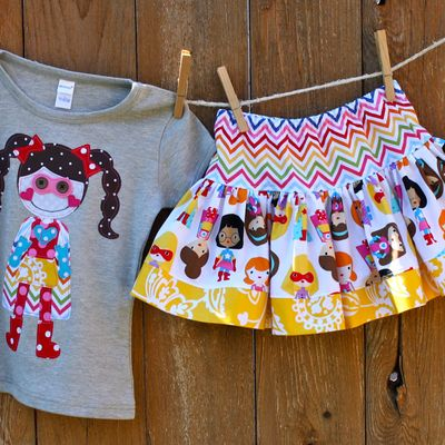 Super bella shirt and skirt