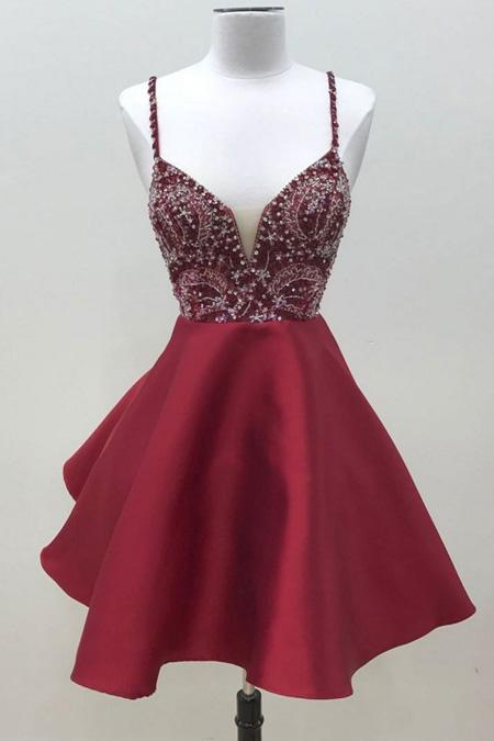 Dark Magenta Prom Dress