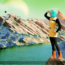 Namek Saga Bulma Cosplay Print #2 medium photo