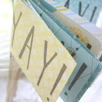 Yay Flags - Stamped by Hand - Ceremony/Party Decor - Thumbnail 4
