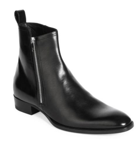 Buy ASOS Men's Black Zip Chelsea Boots In Leather. Similar products also available. SALE now on!Price: $