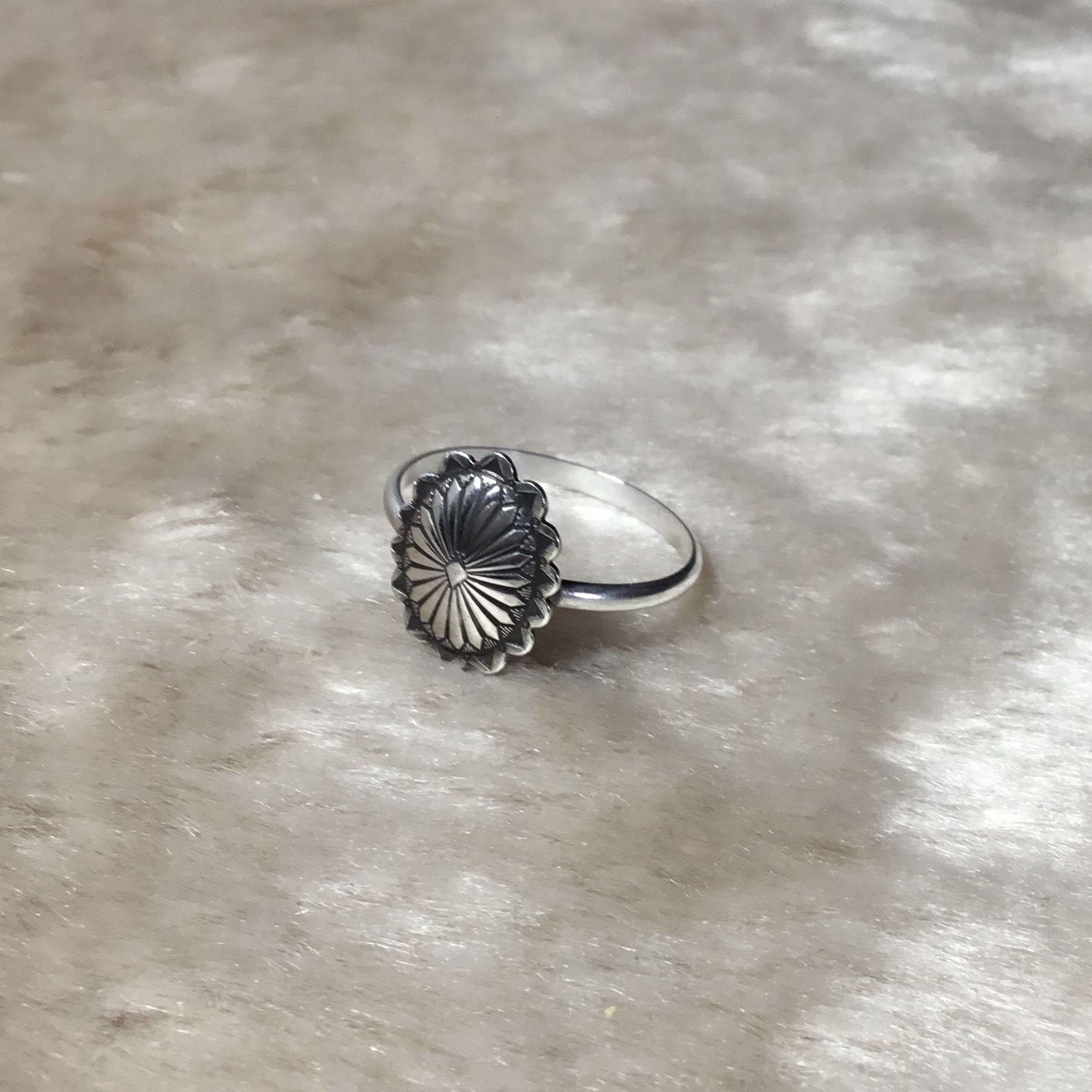 Small Concho Ring From RISH JEWELRY