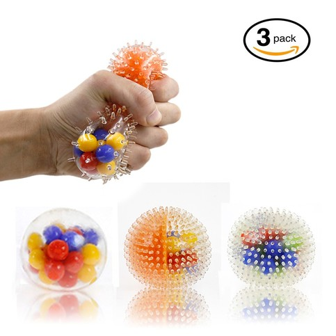 DNA Stress Ball 3 Pack Squeezing Stress Relief Ball Good for ADHD ADD Autisms Squishy Toys Help ...