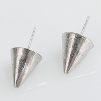 Silver Cone Spikes Earrings