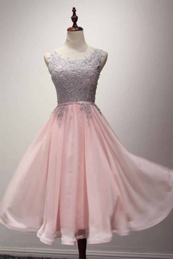 Flowing Chiffon Prom Dress Light Pink Long Party Dress Fs82