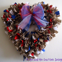 USA Heart Wreath