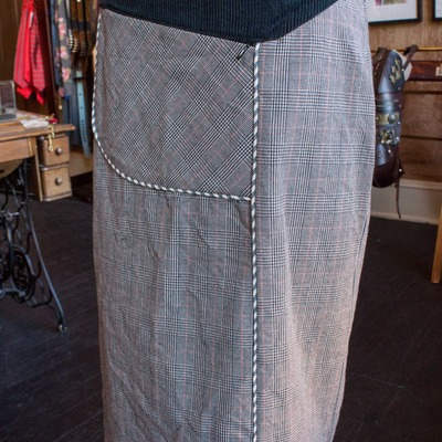 Circle skirt with hidden pocket