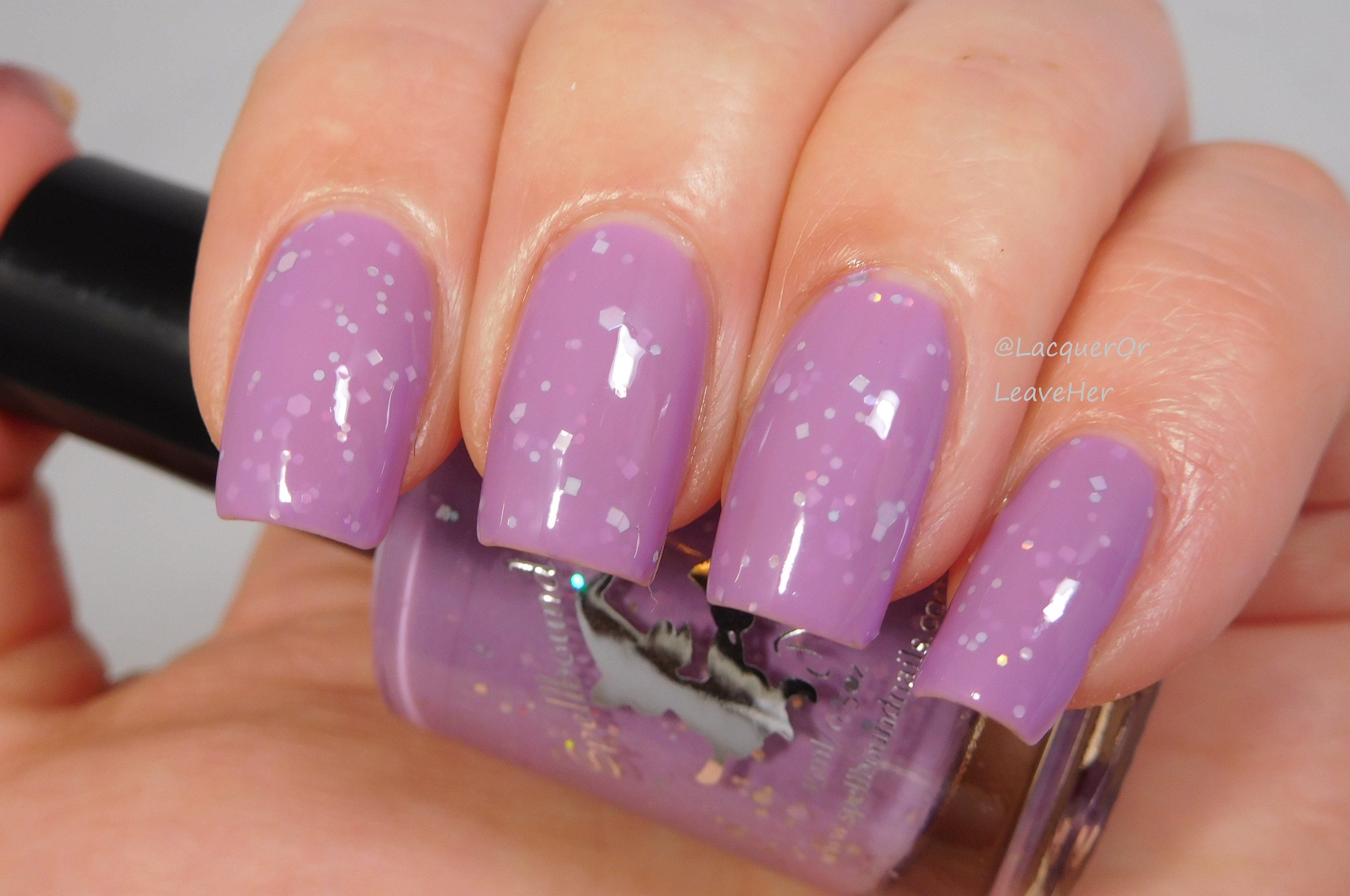 Dammit Janet - custom purple orchid lilac Rocky Horror inspired nail ...
