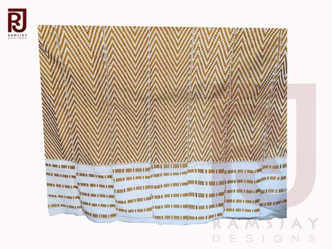 Gold Amp White Kente Handwoven Cloth Ashanti Ghana Kente