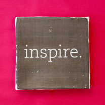 "Subway Art Wall Hanging Canvas 6"" x 6"" - INSPIRE - Inspirational Art, for the person in your life that inspires"