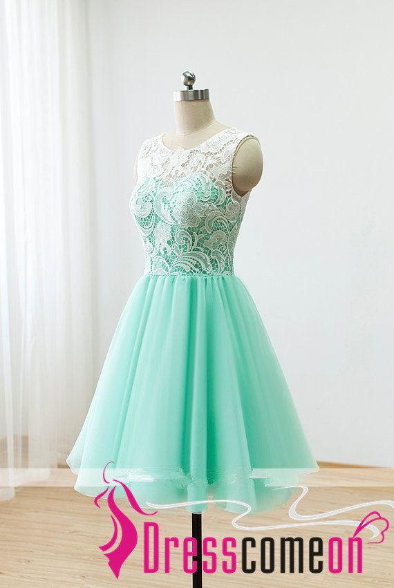Short Lace Prom Dresses 2016 Ball Gown