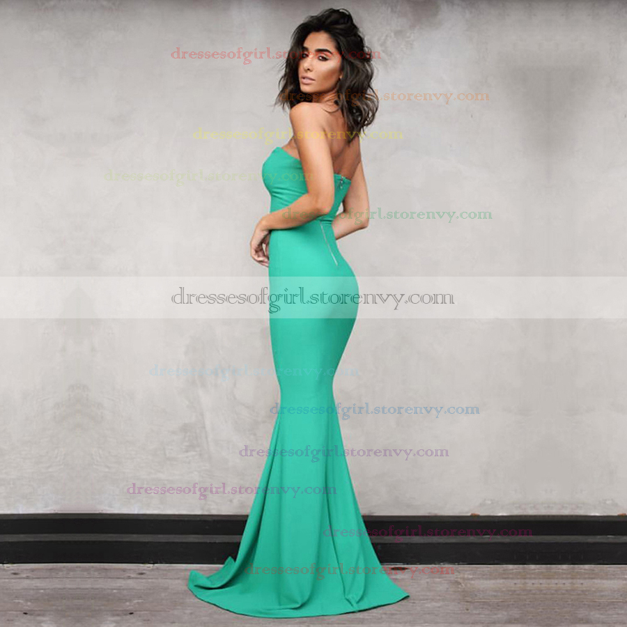Cheap Prom Dresses,Trumpet/Mermaid V-neck Long Formal Dresses ...
