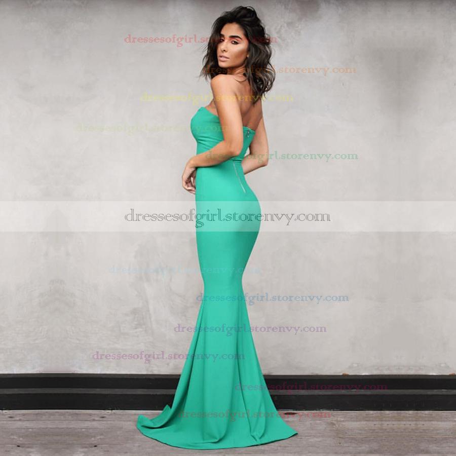 Cheap Prom Dresses,Trumpet/Mermaid V-neck Long Formal Dresses,Pretty ...