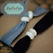 double petit crystal {knotieties} diamond/silver