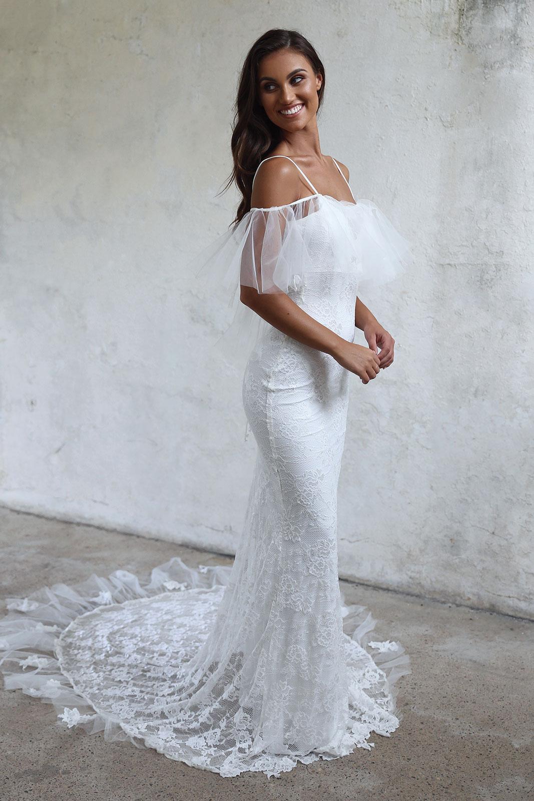2018 Beach Wedding Dress Mermaid Spaghetti Straps Wedding Dress ...