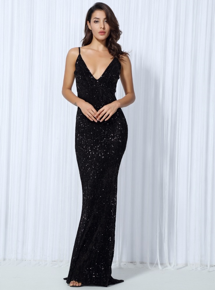 Black Sequin Evening Gown · somethingshelikes · Online Store Powered ...