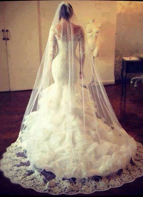 Mermaid Dress with Veil
