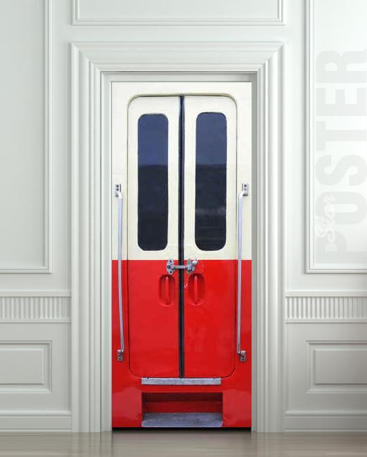 Door STICKER railway facilities metro rail carrierstation mural decole film self-adhesive poster 30x79  & Door STICKER railway facilities metro rail carrierstation mural ...