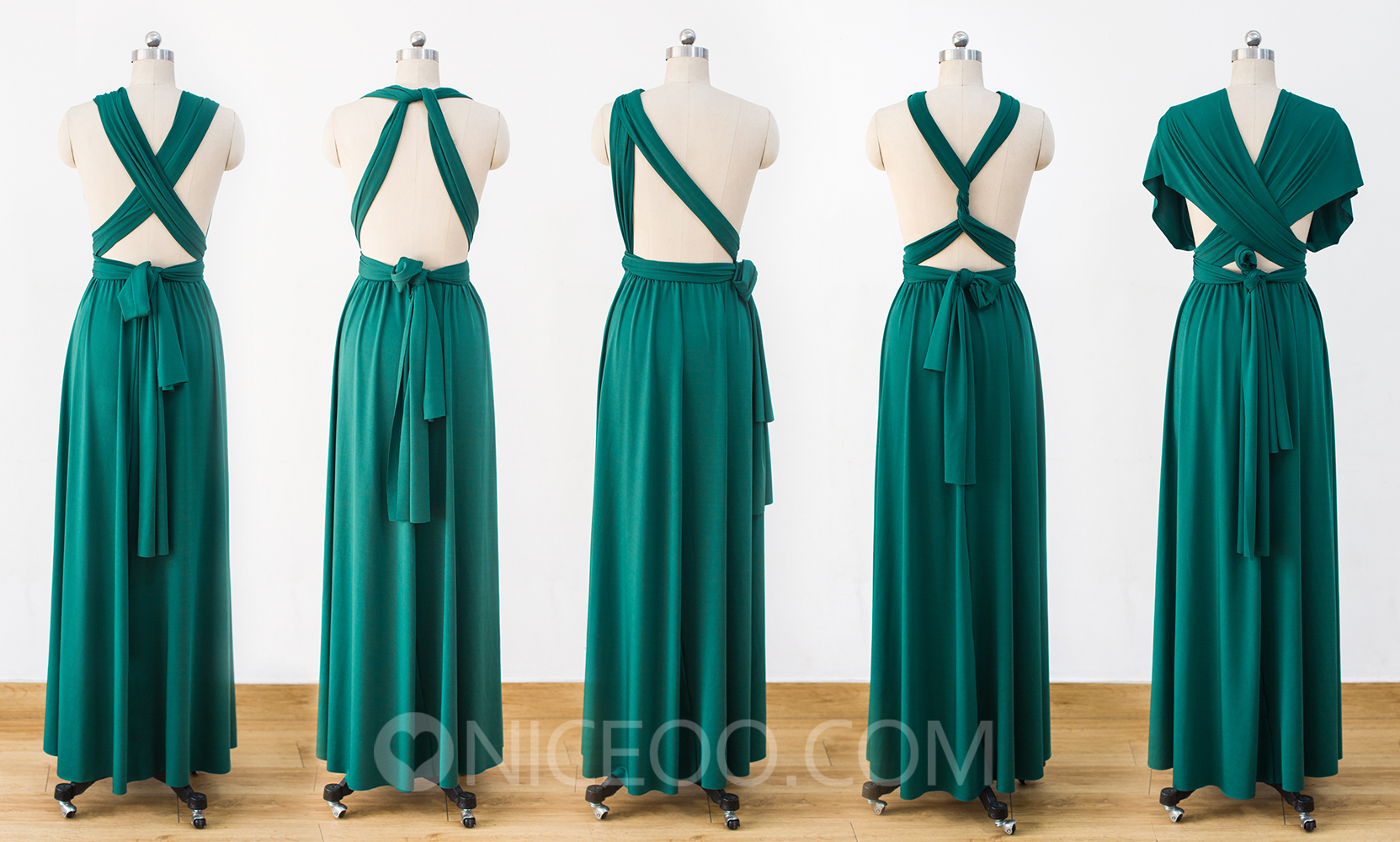 Floor Length Bridesmaid Dresses, Green Infinity Bridesmaid Dress ...
