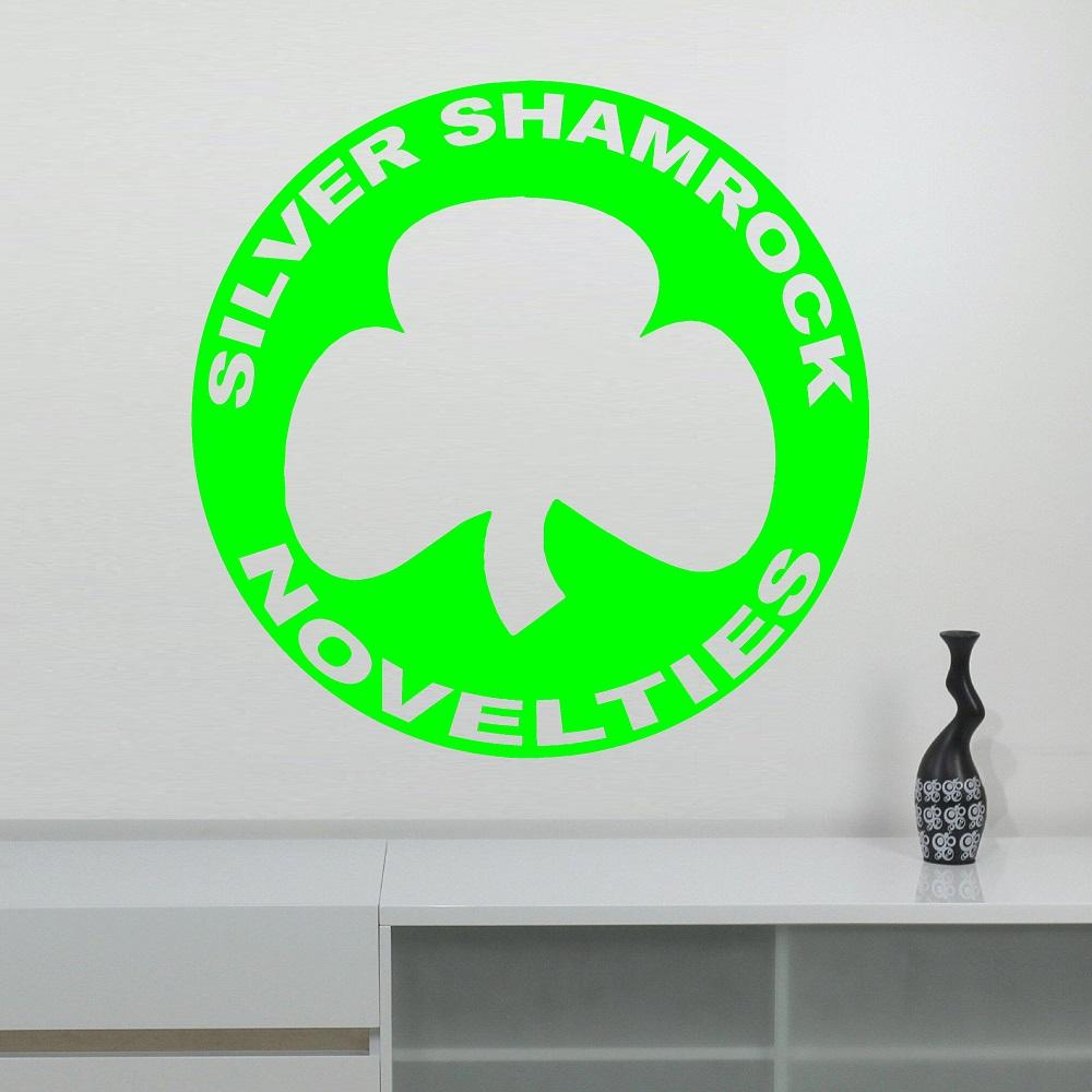 halloween 3 silver shamrock logo wall decal hd065