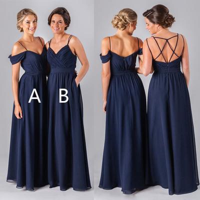 Cheap Spaghetti Strips Long Bridesmaid Dresses,Wedding Guest Wear ...