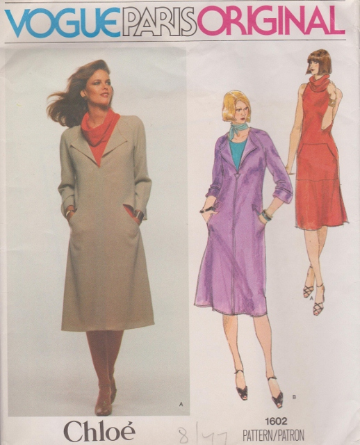 Vogue Pattern 1602 Chloe Designer Pattern Treasures Online