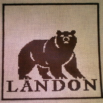 Landon School Pillow Canvas on 13 Mesh