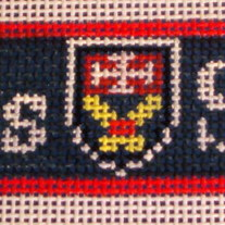 St. Albans School Belt Canvas on 18 Mesh