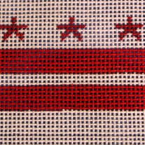 Washington, DC Flag Ornament Canvas on 18 Mesh