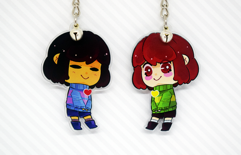 Undertale Acrylic Keychain Charms Reversible 2 Quot Chara