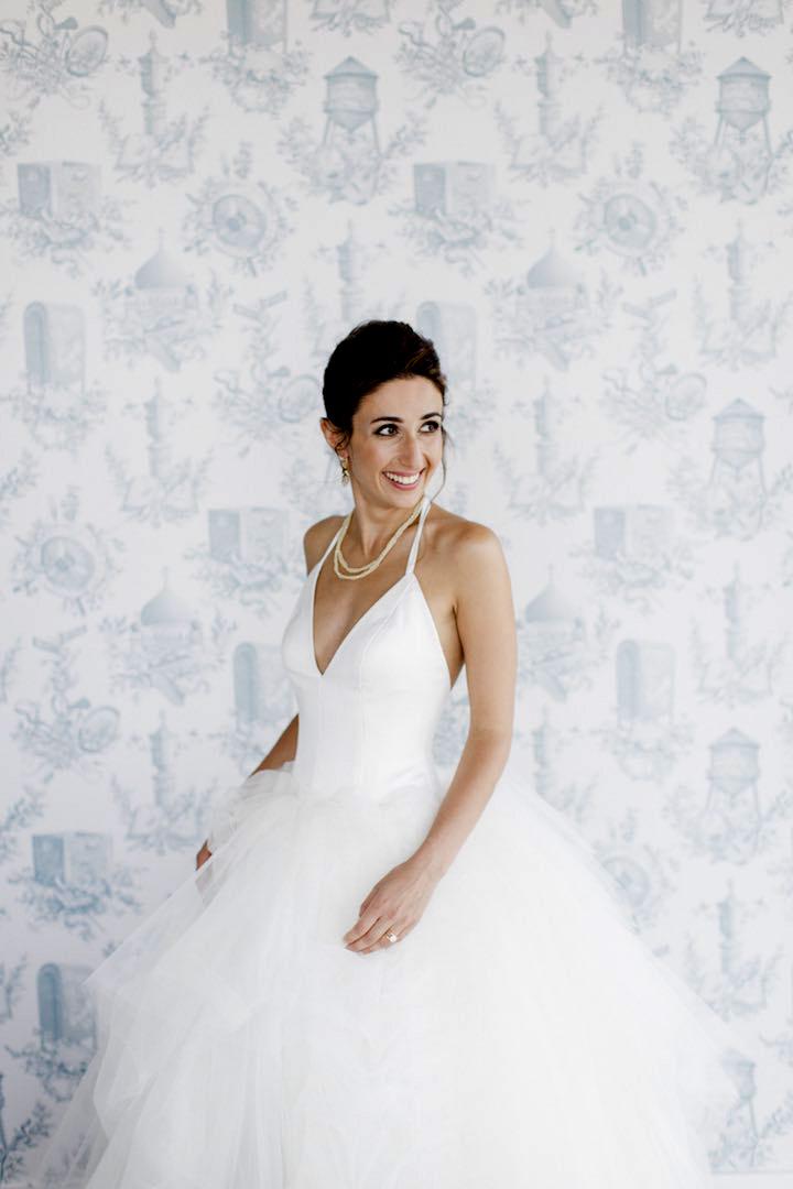 Off white wedding dresses, Spaghetti straps halter wedding dresses ...