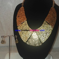 Gold Plate Necklace Set