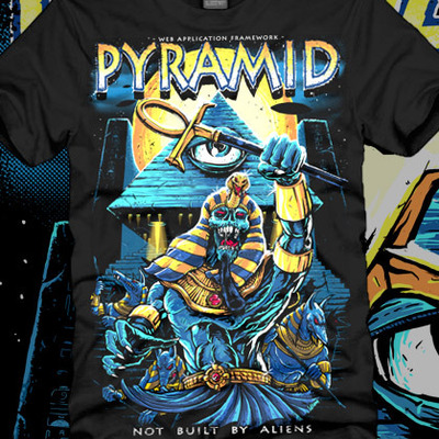 Pyramid - not built by aliens t-shirt