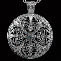 Vintage Crystal Filigree Medallion