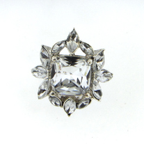Marquis Flower Crystal Ring