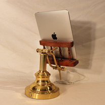 iPad - iPhone - iPod - OOAK Deluxe Dock - Sync and Charging Station- Oak - Wing Arm Style- Adjustable