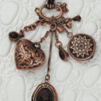 Vintage Triple Charm Necklace