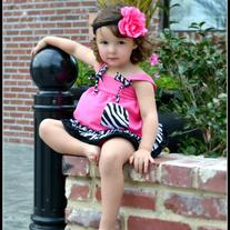 PINK ZEBRA BUTTERFLY SET Swing Top Dress and Ruffle Bloomer Shorts
