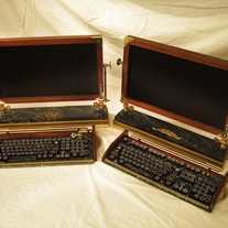 Custom Built Vintage - 20inch Widescreen LCD Monitor-Wireless Keyboard-Mouse Combo ...Victorian Steampunk