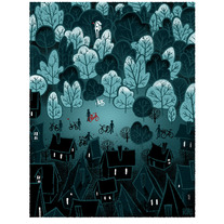 The Forest Edge - Screenprinted Art Print