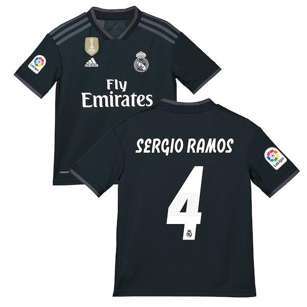 0fa1db5a2 Sergio Ramos  4 Real madrid 2018-19 Black away · SportsWorld2016 ...
