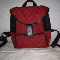 Gucci Red back pack handbag........!