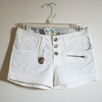 White Button Up Shorts (Brand New - Lots of sizes)