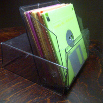 Vintage Floppy Disc Coaster Set w/ Case