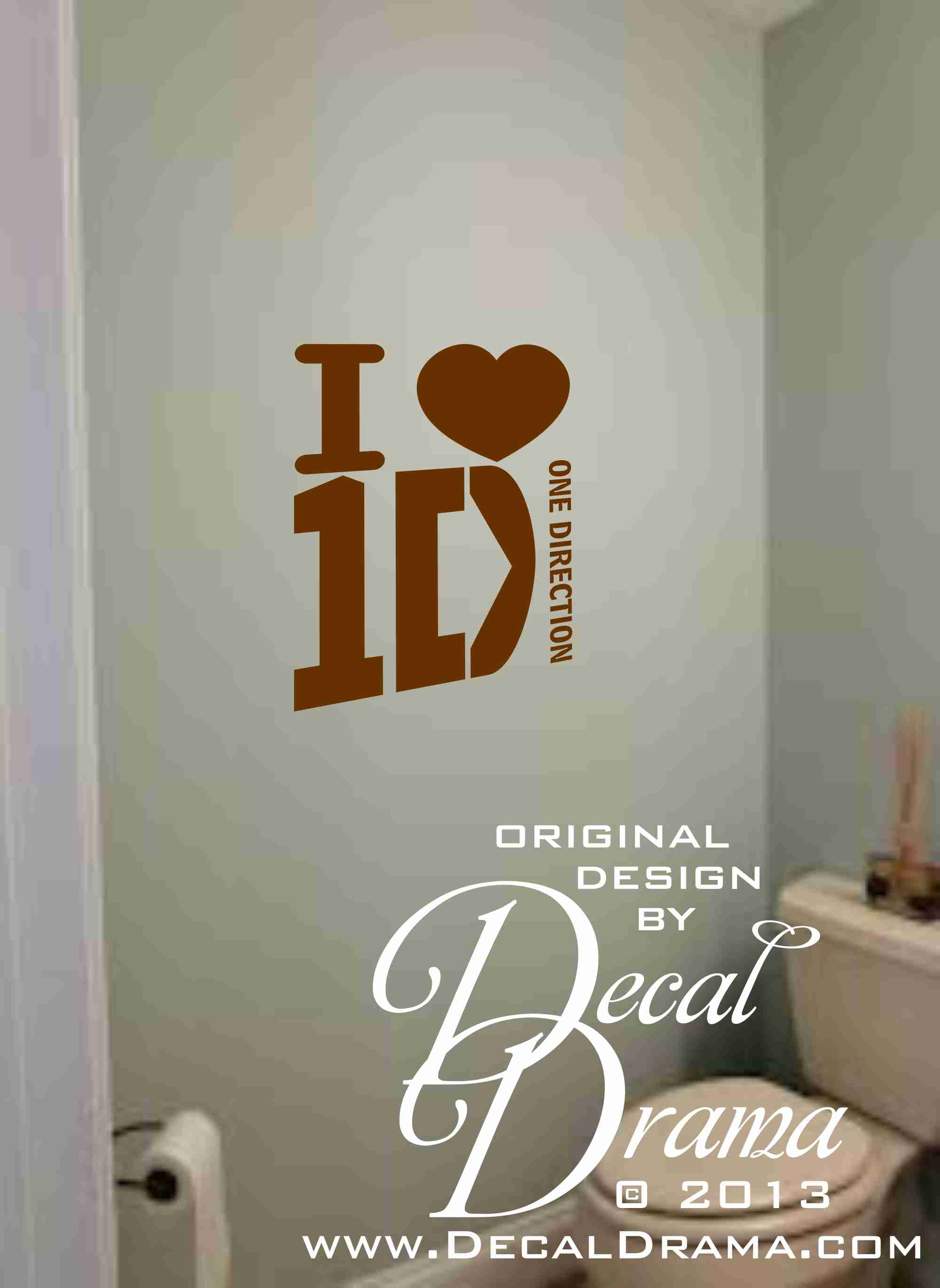 I [heart] 1D (I LOVE One Direction) Inspired Wall Art,