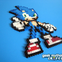 Sonic the Hedgehog Perler Bead Decoration
